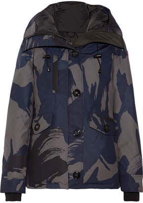 Canada Goose Rideau Camouflage-print Down Parka - Midnight blue