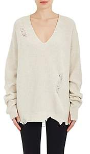 a5c2f51c79c3 ... Helmut Lang Women s Distressed Wool-Cashmere Oversized Sweater-Crma