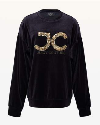 Juicy Couture Luxe JC Velour Pullover