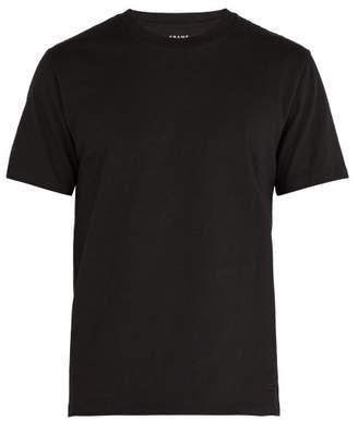 Frame Crew Neck Cotton Jersey T Shirt - Mens - Black