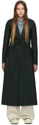 Harris Wharf London Green Long Duster Coat