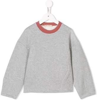Marni contrasting collar sweatshirt