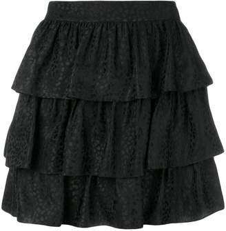 Stella McCartney jacquard tiered skirt