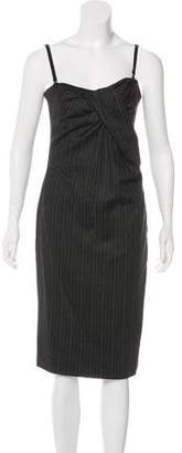 Dolce & Gabbana Sleeveless Pinstripe Dress