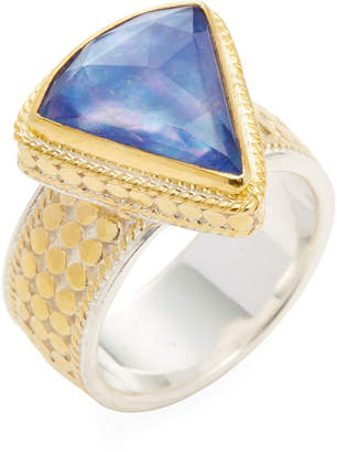 Anna Beck Jewelry Triangle Wide Lapis Triplet Single Ring