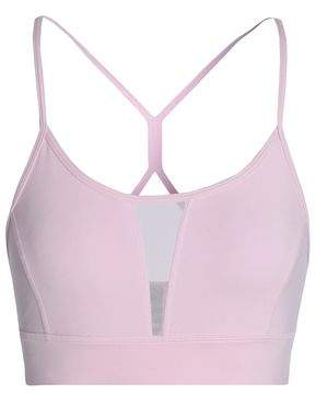 Purity Active Mesh-Paneled Stretch Sports Bra
