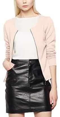 Vila CLOTHES Women's Vinaja New Short Jacket-noos Blazer, (Medium Grey Melange), (Size