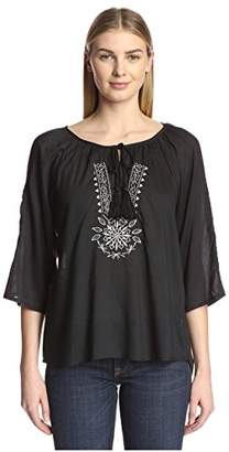 James & Erin Women's Embroidered Top