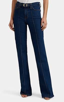 Current/Elliott Women's Scorpio Belted High-Rise Flared Jeans - Blue