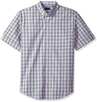 Arrow Men's Big and Tall Hamilton Poplin Short Sleeve Button Down Shirt