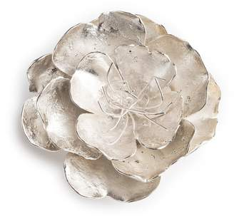 Josie Natori Silver Plated Brass Small Peony Brooch