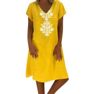 bdb69f8a385c HHmei Women Summer Style Feminino Vestido T-Shirt Cotton Casual Plus Size Ladies  Dress