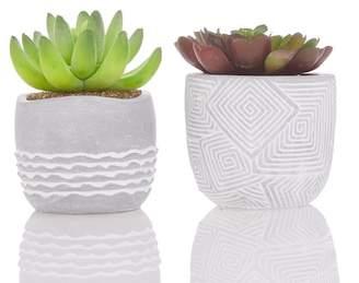 Ankit Ceramic Faux Plant Pots - Set of 2