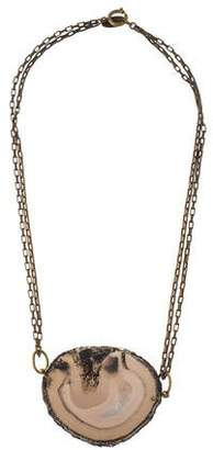 Isabel Marant Agate Slice Pendant Necklace