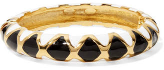 Kenneth Jay Lane Gold-plated And Enamel Bracelet - Black
