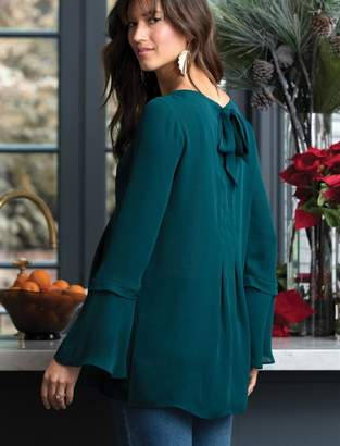 A Pea in the Pod Bell Sleeve Maternity Blouse