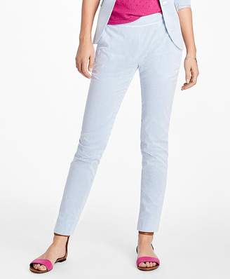 Stripe Seersucker Skinny Pants $88 thestylecure.com