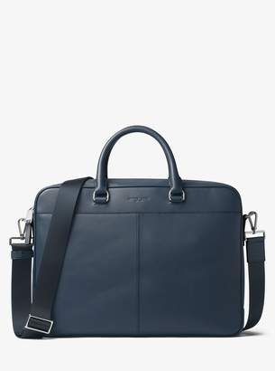 Michael Kors Odin Large Leather Briefcase