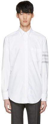 Thom Browne White Four Bar Classic Shirt $570 thestylecure.com
