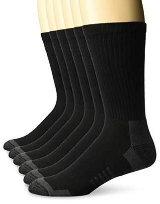 Amazon Essentials Men's 6-Pack Performance Cotton Cushioned Athletic Crew Socks