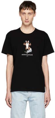 MAISON KITSUNÉ Black Pixel Fox T-Shirt
