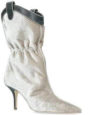 Malone Souliers Velvet Daisy Boots 70