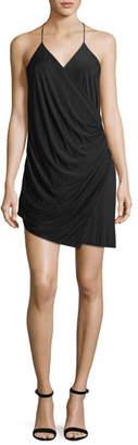 Haute Hippie Sidewinder Cowl Jersey Mini Dress