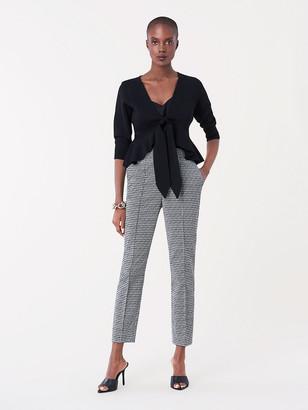 Diane von Furstenberg Sleeve Front Tie Sweater
