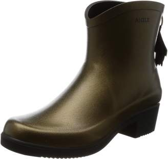Aigle Womens Miss Juliette Bottillon Goldbronze Rubber Boots 39 EU
