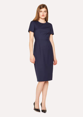 Paul Smith Women's Navy Wool-Twill 'A Dress To Travel In'