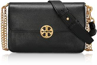 Tory Burch Black Leather Chelsea Convertible Shoulder Bag