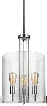 One Kings Lane Dawes 3-Light Lantern - Brushed Nickel