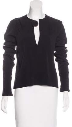 David Koma Long Sleeve Embellished Top