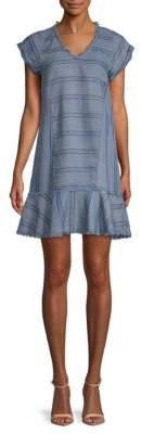 Saks Fifth Avenue Striped V-Neck Dress