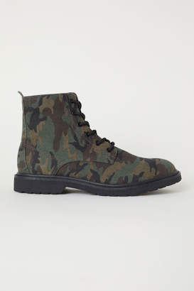 H&M Canvas Boots - Green