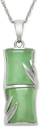 Macy's Dyed Jadeite Pendant Necklace in Sterling Silver