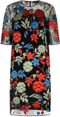 Burberry Floral Applique Sheer Dress