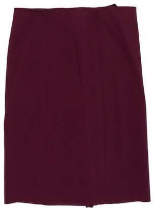 Versace Zip-Up Knee-Length Skirt