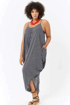 f90b8142fa72e Forever 21 Plus Size Striped Harem Jumpsuit