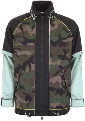 Valentino Go Logo Camouflage Jacket