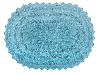 Dii Design Imports Oval Crochet Bath Mat, Small, 100% Cotton, Multiple Colors/Sizes