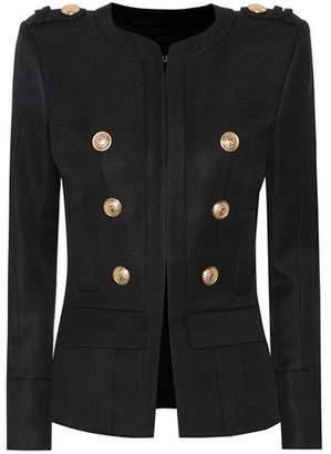 Balmain Embellished textured jacket