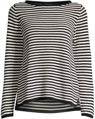 Eileen Fisher Organic Cotton Bateau Neck Striped Top