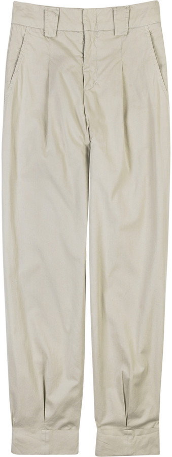 Vince Cotton twill cropped pants