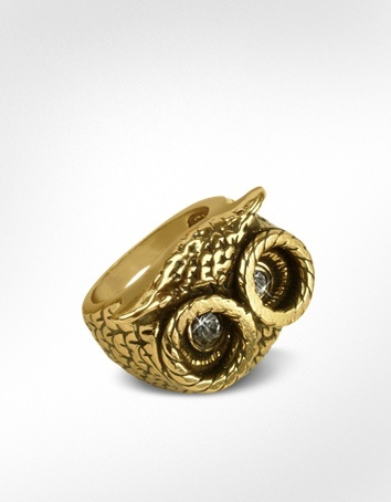 Alcozer & J Owl Brass Ring