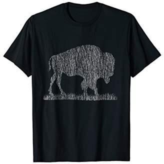 Buffalo David Bitton Illustrated T-Shirt with Distressed Effect