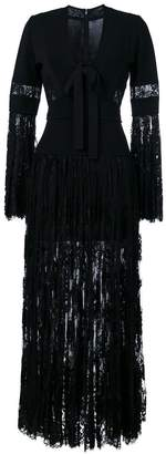 Elie Saab panelled lace maxi dress