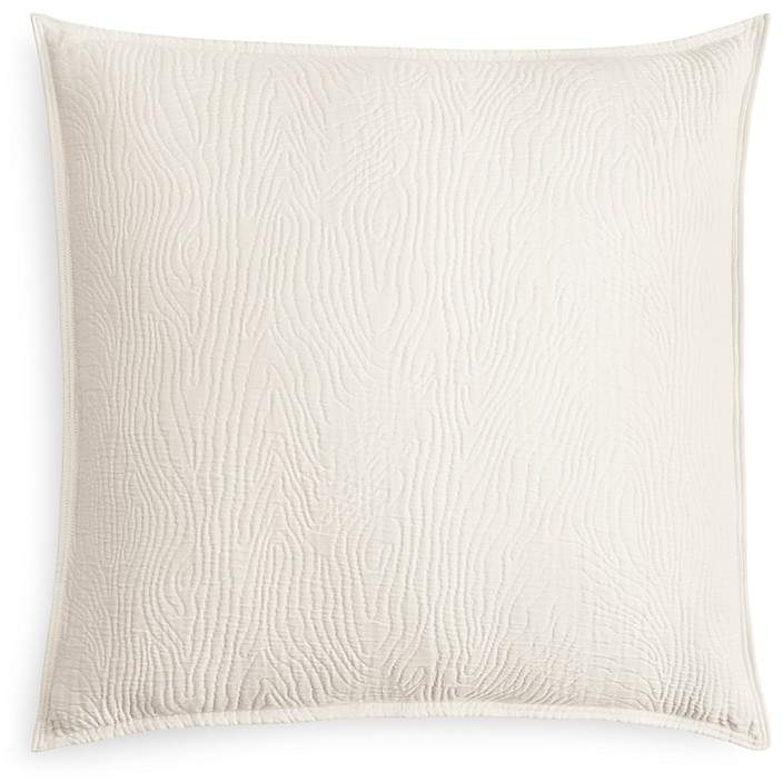 Oake Woodgrain Quilted Euro Sham - 100% Exclusive