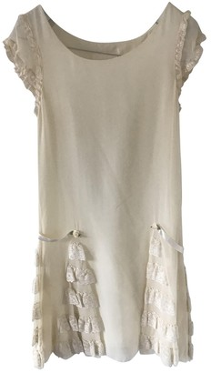 Jill Stuart Ecru Silk Dress for Women