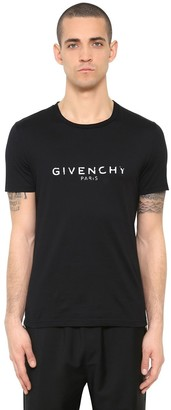 Givenchy Cuban Vintage Logo Print Jersey T-Shirt